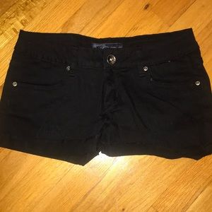 Pants - Black jean shorts